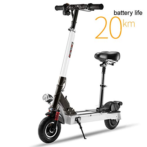 XB Electric Scooter-Lightweight, Foldable & Easy Carry, Hight-Adjustable, Two-Wheeled Mini Electric Scooter for Teenagers and Adults(White)