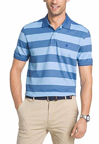 Izod Men's Rugby Stripe Polo Shirt, Mazarine (X-Large, Mazarine) (Izod Striped Polo Shirt)