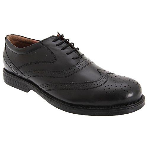Scimitar Mens Wing Cap Brogue Oxford Shoes (7 US) (Black) ()