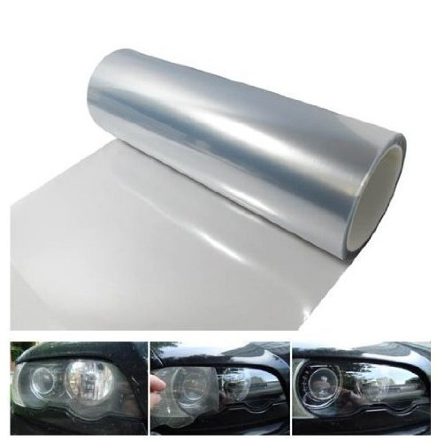DIYAH 12 X 48 Inches Self Adhesive Headlight, Tail Lights, Fog Lights Tint Vinyl Film -