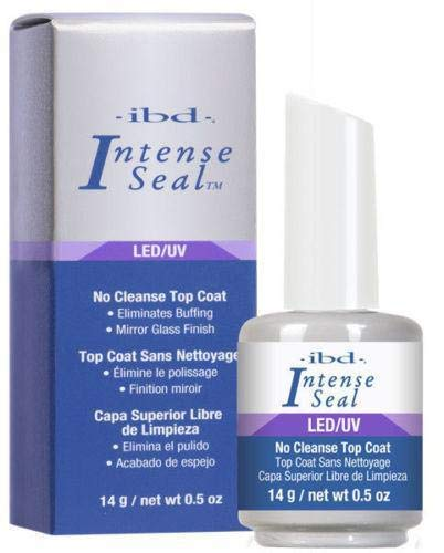 Ibd LED/UV No Cleanse Top Coat Eliminates Buffing Mirror Glass Finish.- Size 0.5 Fl.oz / 14ml ()