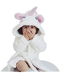 b5eac850edf Unisex-Baby Winter Soft Warm Flannel Hooded Plush Robe Animal Pajamas  Fleece Bathrobe Children Sleepwear