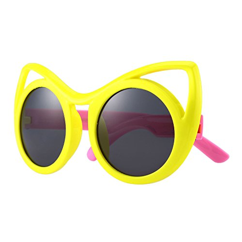 Kids Rubber Flexible Polarized Aviator Sunglasses For Boys Girls Age 3-10 - Baby Sunglasses Unbreakable