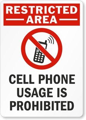 Amazon.com: Restricted Area teléfono celular uso es ...