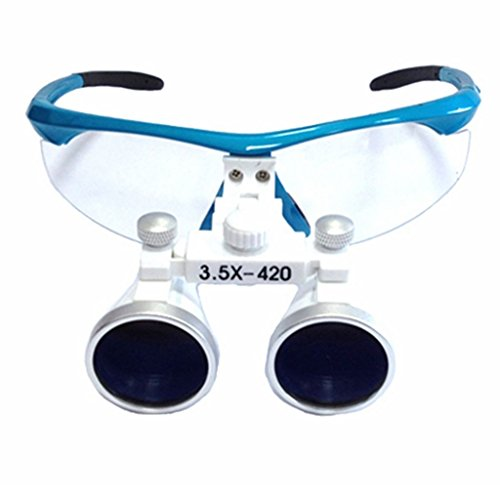 Zgood 3.5X 420mm Dental Surgical Medical Binocular Magnifier Loupes Optical Glasses (Blue)