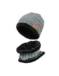 OMINA Wireless Bluetooth Music Cap, Men and Women Bib Warm Knit Outdoor Riding