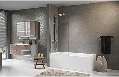 Mampara de bañera Novellini Aurora 5 – 70 A 85 cm – blanco – transparente – 70 cm: Amazon.es: Bricolaje y herramientas