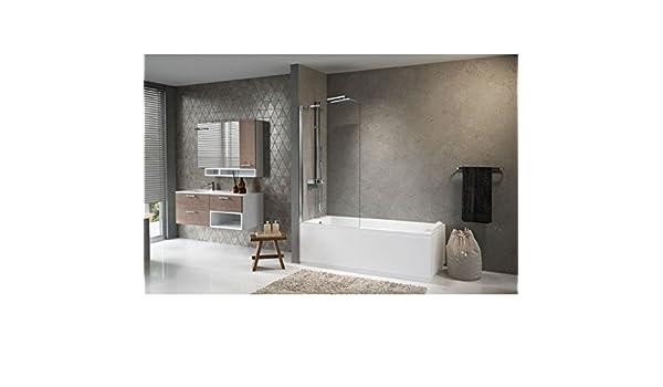 Mampara de bañera Novellini Aurora 5 – 70 A 85 cm – blanco ...