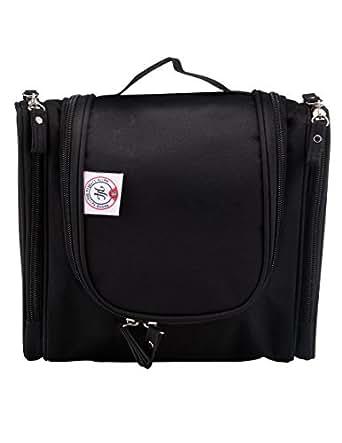 Holly LifePro Hanging Travel Kit Portable Waterproof Toiletry Bag, Personal Organizer for Men & Women Bathroom Storage Cosmetic Bag Travel Shower Bag(Black)