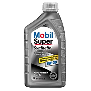 Mobil Super 113938 5W-30 Synthetic Motor Oil - 1 Quart