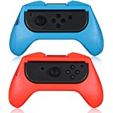 Bainuo Grips for Nintendo Switch Joy-Con Handle Wear-Resistant for Nintendo Switch Handgrip Kit-Red Blue