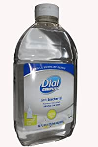 Dial Complete Antibacterial Foaming Hand Wash Refill, Soothing White Tea,32-Ounce Bottles (Pack of 3)