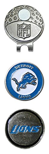 Team Golf NFL Detroit Lions Golf Cap Clip with 2 Removable Double-Sided Enamel Magnetic Ball Markers, Attaches Easily to Hats