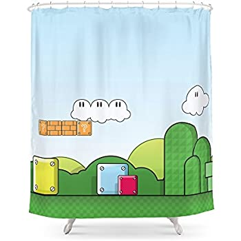 Society6 World Of Mario Shower Curtain 71 By
