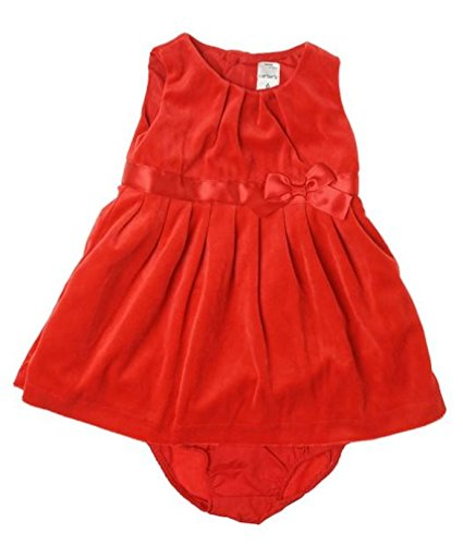 Velour Dress Set (Carter's Velour Dress w/ Diaper Cover (Baby) - Red-24 Months)