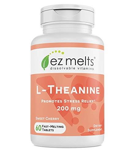 - EZ Melts L-Theanine, 200 mg, Sublingual Vitamins, Vegan, Zero Sugar, Natural Cherry Flavor, 60 Fast Dissolve Tablets