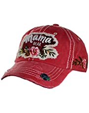 NYFASHION101 Women's Distressed Unconstructed Embroidered Baseball Cap Dad Hat