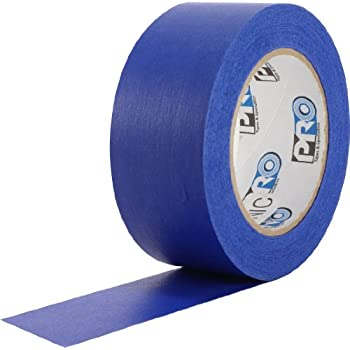 "ProTapes Pro Scenic 714 Crepe Paper 14 Day Easy Release Painters Masking Tape, 60 yds Length x 3/4"" Width, Blue (Pack of 1)"