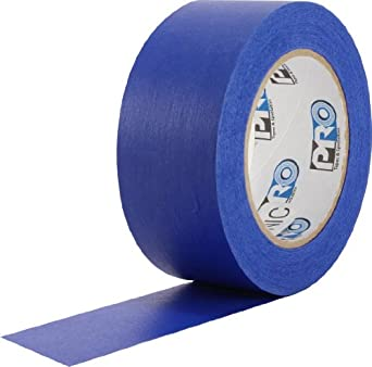 """ProTapes Pro Scenic 714 Crepe Paper 14 Day Easy Release Painters Masking Tape, 60 yds Length x 3"""" Width, Blue (Pack of 1)"""