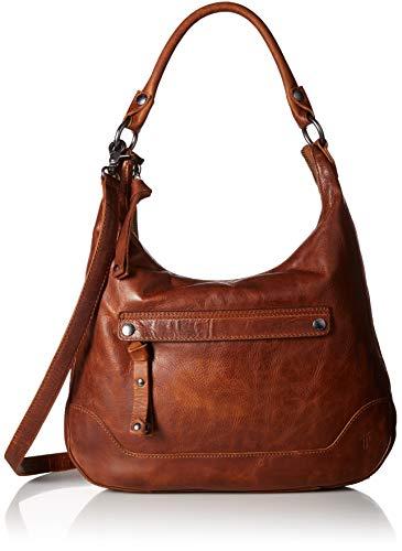 FRYE Melissa Zip Leather Hobo Handbag, - Handbags Leather Hobo Cognac