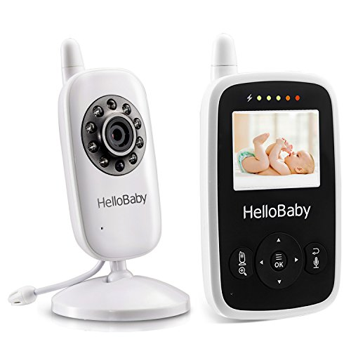 HelloBaby Video Baby Monitor with Night Vision Camera, 2'' L