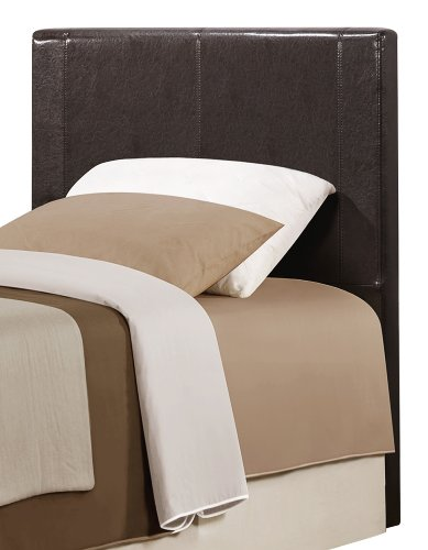 Homelegance Copley Bi-Cast Vinyl Headboard Only, Twin, Dark Brown