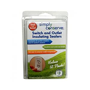 Switch and Outlet Insulating Sealers 12 Count