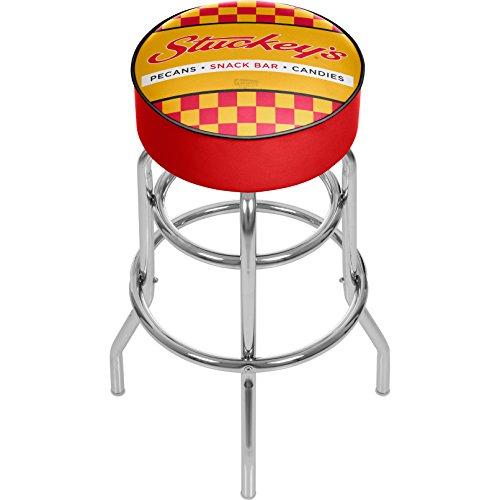Stuckey's Checkered Padded Swivel Bar Stool