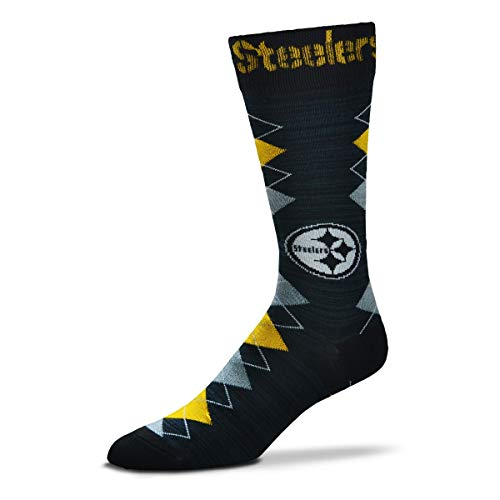 (For Bare Feet NFL Fan Nation Crew Socks One Size Fits Most - Pittsburgh Steelers)