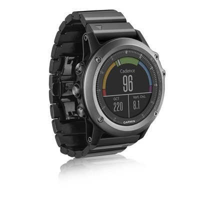 Garmin Fenix 3 Sapphire Multisport Training GPS/GLONASS Watch Bundle with HRM-RUN Heart Rate Monitor and metal strap