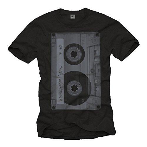 Makaya Men's Hip Hop T-Shirt Dj Mix Tape Black Size XXL