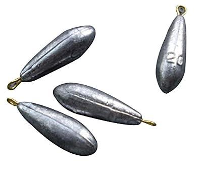 Eforstore 10pcs Bullet Streamline Shape Reuseable Lead Swivel Sinker Fishing Sinkers Weight 10g/15g/20g/30g/40g/50g Available