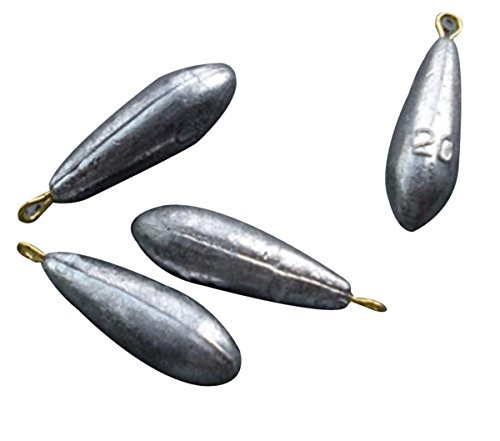 Eforstore 10pcs Bullet Streamline Shape Reuseable Lead Swivel Sinker Fishing Sinkers Weight 10g/15g/20g/30g/40g/50g Available