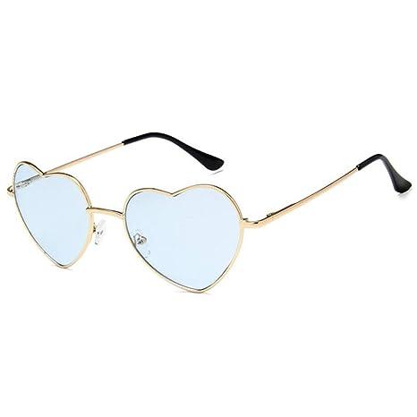 Yangjing-hl Diseño de Moda Amor Corazón Gafas de Sol Marca ...