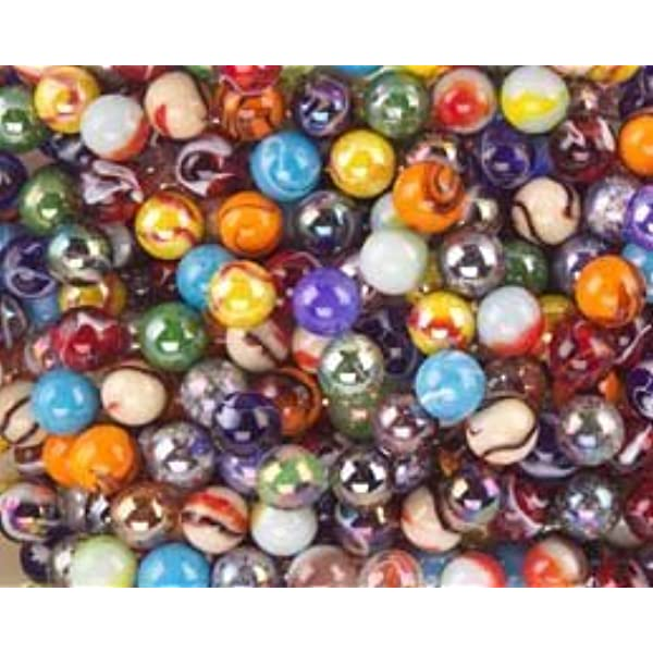 1//2 inch NEW for 2020! Pk 25 Ice Clear w Bubbles PeeWee Glass Marbles 12mm