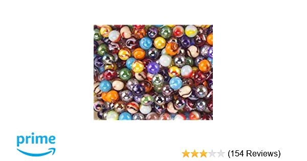 Set of 24 Assorted Styles and Colors Mega Fun 1//2 Inch Peewee Marbles