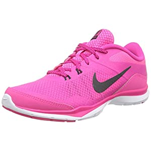 Nike Womens Flex Trainer 5 Running Shoe, Pink Pow/Anthracite/Pink Foil/White - 9 B(M) US