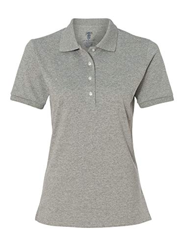 Jerzees womens 5.6 oz. 50/50 Jersey Polo with SpotShield(437W)-OXFORD-M -