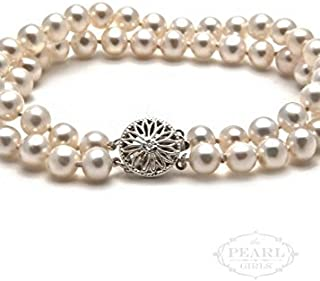 product image for The Pearl Girls Classic Cultured Pearl Double Strand Bracelet
