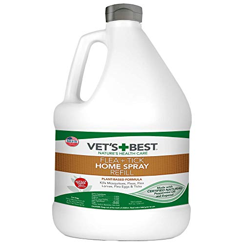Vet's Best Flea and Tick Home Spray | Flea Treatment for Dogs and Home | Flea Killer with Certified Natural Oils | 96 oz, Refill