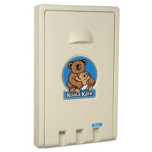 Koala Kare KB101-00 Cream Vertical Wall Mounted Baby Changing Station