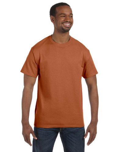 Texas Orange T-shirt - Hanes Mens Tagless 100% Cotton T-Shirt, Medium, Texas Orange