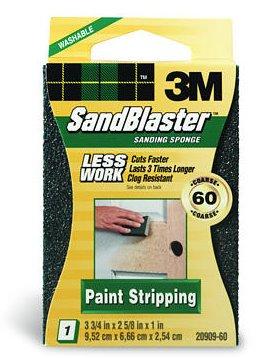6 Pack 3M 20909-60 SandBlaster Paint Stripping Sanding Sponges - 60 Grit