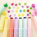 Go Cart Go 36 pcs/Lot Cute Stamp Highlighter Marker Pen for Reading DIY Scrapbooking Stationery Material escolar