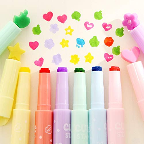Go Cart Go 36 pcs/Lot Cute Stamp Highlighter Marker Pen for Reading DIY Scrapbooking Stationery Material escolar by Go Cart Go (Image #6)