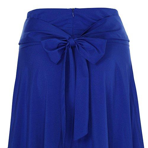 Longue SANFASHION de Plage Fluide Poches Belted Taille Maxi Haute Jupe Doux Tissu Pliss Jupe Bleu Vintage 2 Femme Casual lgant 4Enw4rq