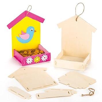 Baker Ross Kits Mangeoires à Oiseaux En Bois Que Les Enfants