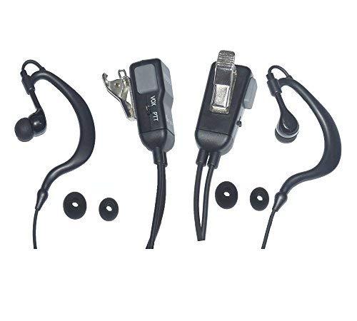 Cyen Two-Way Wireless Headset G-Shaped Headset Walkie Talkie Headset With PTT/VOX-Pair