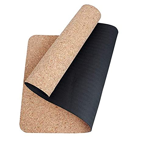 YOOMAT Black Cork TPE Yoga Mat Eco-Friendly Non Slip 183cm ...