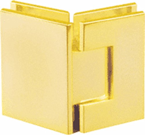 CRL Geneva 045 Series Gold Plated 135176; Glass-to-Glass Hinges - Gold Plated Geneva Series
